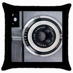 Vintage Camera Throw Pillow Case (Black)