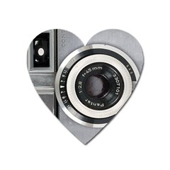 Vintage Camera Heart Magnet