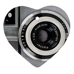 Vintage Camera Heart Ornament (Two Sides)