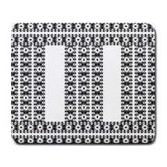 Pattern Background Texture Black Large Mousepads