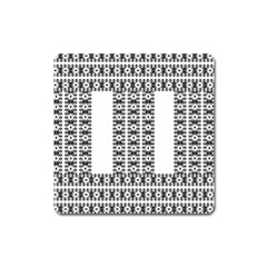 Pattern Background Texture Black Square Magnet