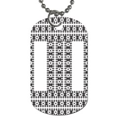 Pattern Background Texture Black Dog Tag (Two Sides)