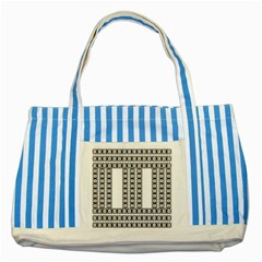 Pattern Background Texture Black Striped Blue Tote Bag