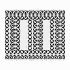 Pattern Background Texture Black Small Glasses Cloth (2-Side)