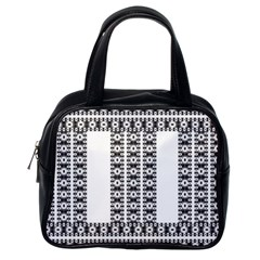 Pattern Background Texture Black Classic Handbags (One Side)
