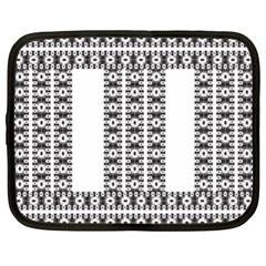 Pattern Background Texture Black Netbook Case (XL)