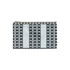 Pattern Background Texture Black Cosmetic Bag (Small)