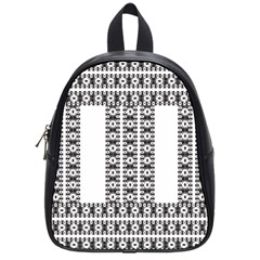 Pattern Background Texture Black School Bags (Small)