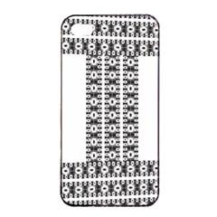 Pattern Background Texture Black Apple iPhone 4/4s Seamless Case (Black)