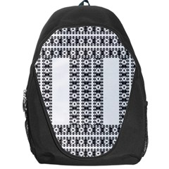 Pattern Background Texture Black Backpack Bag