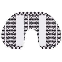Pattern Background Texture Black Travel Neck Pillows