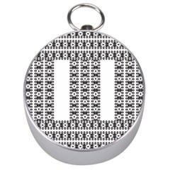 Pattern Background Texture Black Silver Compasses