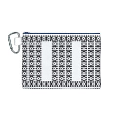 Pattern Background Texture Black Canvas Cosmetic Bag (M)