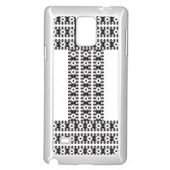 Pattern Background Texture Black Samsung Galaxy Note 4 Case (White)