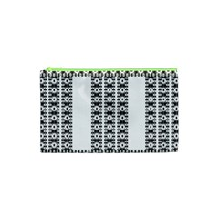 Pattern Background Texture Black Cosmetic Bag (XS)