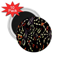 Spiders Background 2.25  Magnets (10 pack)
