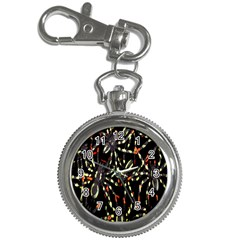 Spiders Background Key Chain Watches
