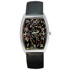 Spiders Background Barrel Style Metal Watch