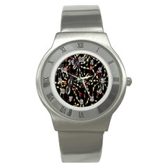 Spiders Background Stainless Steel Watch