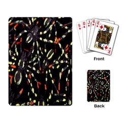 Spiders Background Playing Card