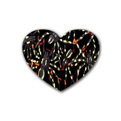 Spiders Background Rubber Coaster (Heart)
