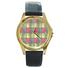 Seamless Pattern Seamless Design Round Gold Metal Watch