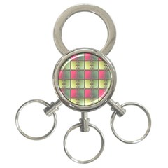 Seamless Pattern Seamless Design 3-Ring Key Chains