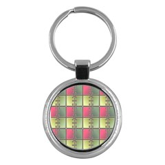 Seamless Pattern Seamless Design Key Chains (Round)