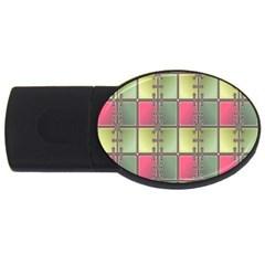Seamless Pattern Seamless Design USB Flash Drive Oval (2 GB)