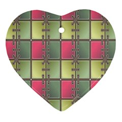 Seamless Pattern Seamless Design Heart Ornament (Two Sides)