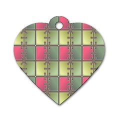 Seamless Pattern Seamless Design Dog Tag Heart (one Side)