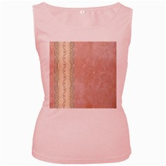 Guestbook Background Victorian Women s Pink Tank Top