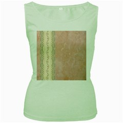 Guestbook Background Victorian Women s Green Tank Top