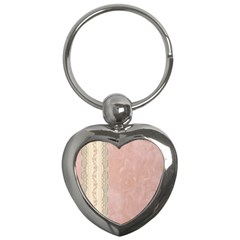Guestbook Background Victorian Key Chains (Heart)