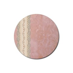 Guestbook Background Victorian Rubber Round Coaster (4 pack)