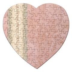 Guestbook Background Victorian Jigsaw Puzzle (Heart)
