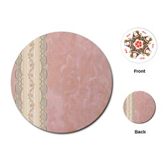 Guestbook Background Victorian Playing Cards (Round)