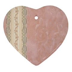 Guestbook Background Victorian Heart Ornament (two Sides)