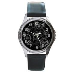 Formal Magic Circle Round Metal Watch