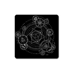 Formal Magic Circle Square Magnet