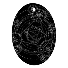 Formal Magic Circle Oval Ornament (Two Sides)
