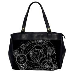 Formal Magic Circle Office Handbags (2 Sides)