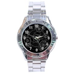 Formal Magic Circle Stainless Steel Analogue Watch