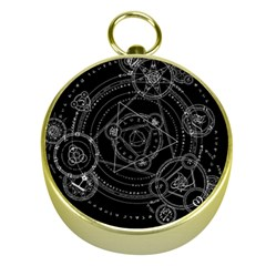 Formal Magic Circle Gold Compasses