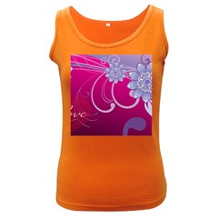 Love Flowers Women s Dark Tank Top