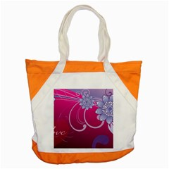 Love Flowers Accent Tote Bag