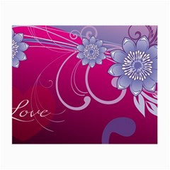 Love Flowers Small Glasses Cloth (2-Side)