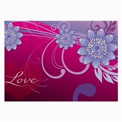 Love Flowers Large Glasses Cloth