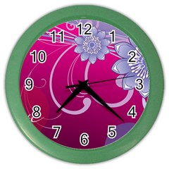 Love Flowers Color Wall Clocks