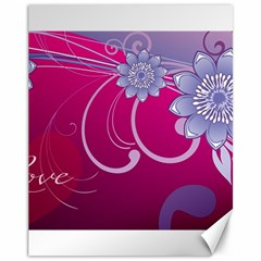 Love Flowers Canvas 11  x 14